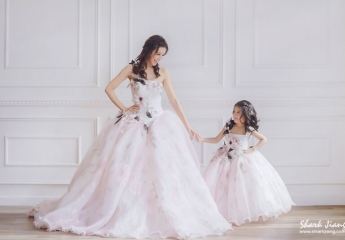 母女婚紗,婚紗
