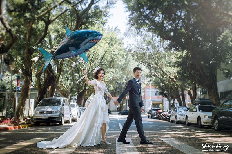 鯊魚氣球婚紗