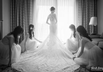 結婚禮服, 白紗禮服,白紗, 禮服, 婚禮進場, 禮服修改, 禮服秘書,試穿禮服