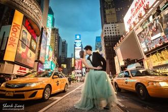 海外婚紗紐約時代廣場婚紗照